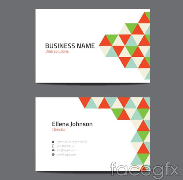 Geometric-shaped business card vector