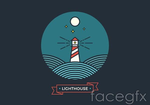 Lighthouse design vector