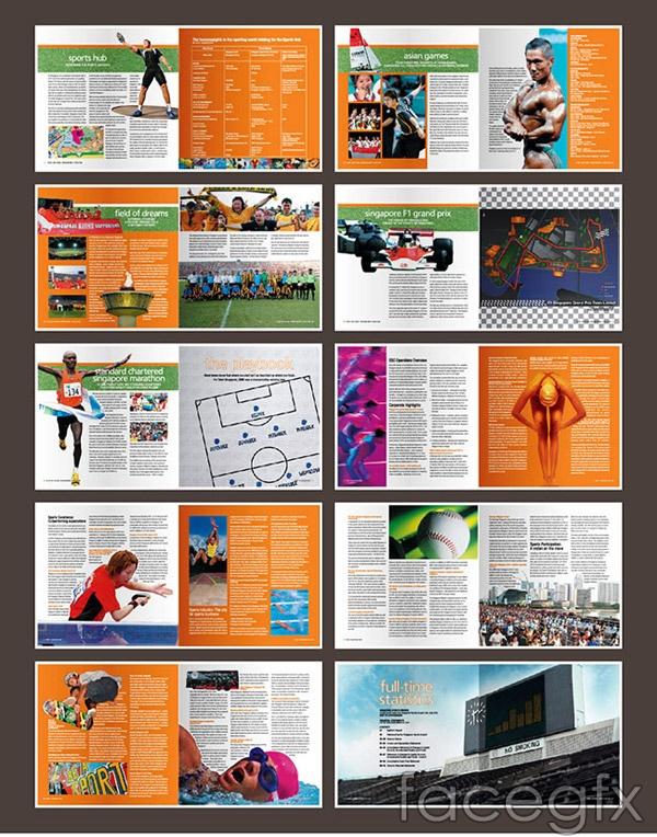 Outdoor brochure vector
