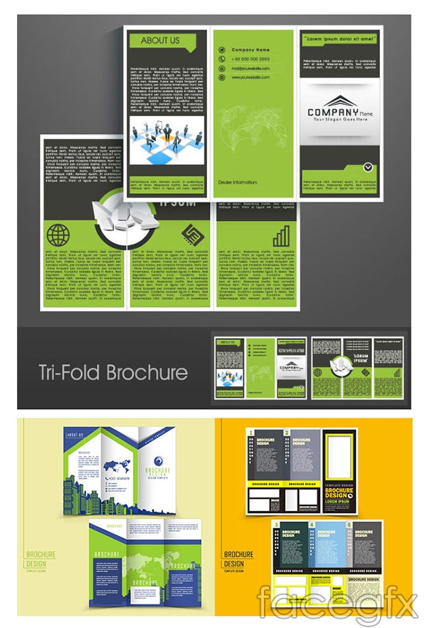 Simple 30 percent page templates vector