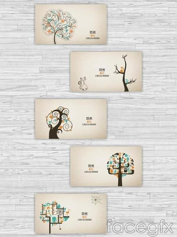 Art print business cards vector