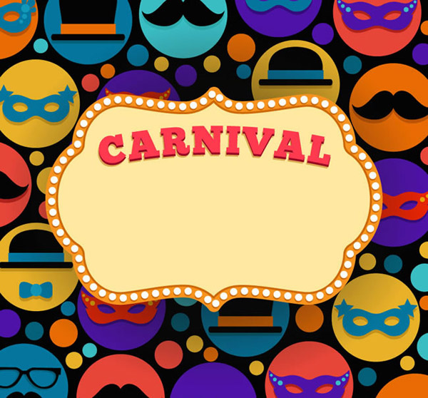 Carnival text background vector
