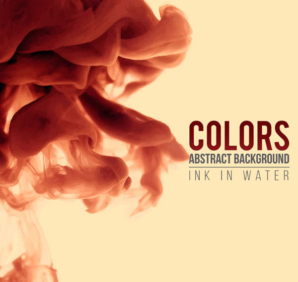 Diffusion of watercolor paints vector