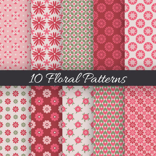 Fresh floral seamless background vector