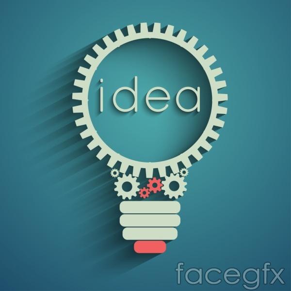 Gear bulbs ideas vector