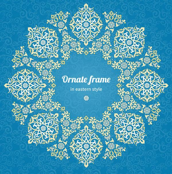 Oriental pattern background vector