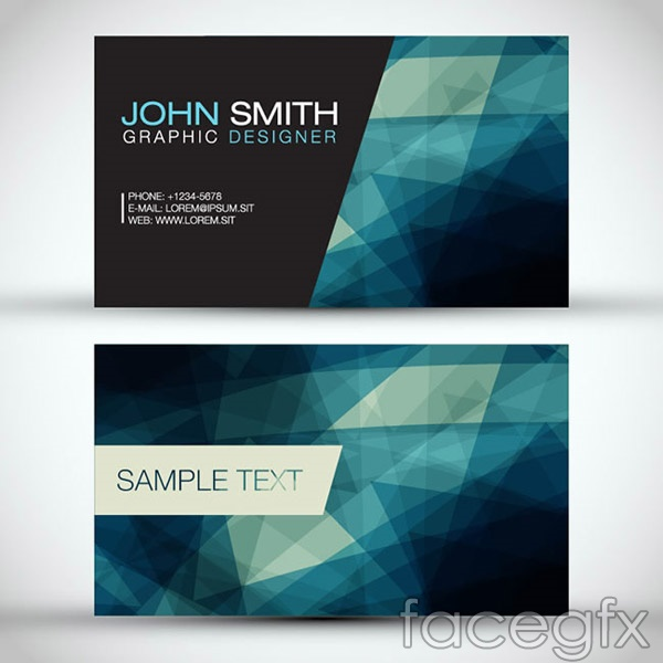 Simple and colorful business cards vector