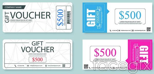 500 vouchers ticket vector