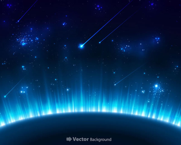 Blue Planet background vector