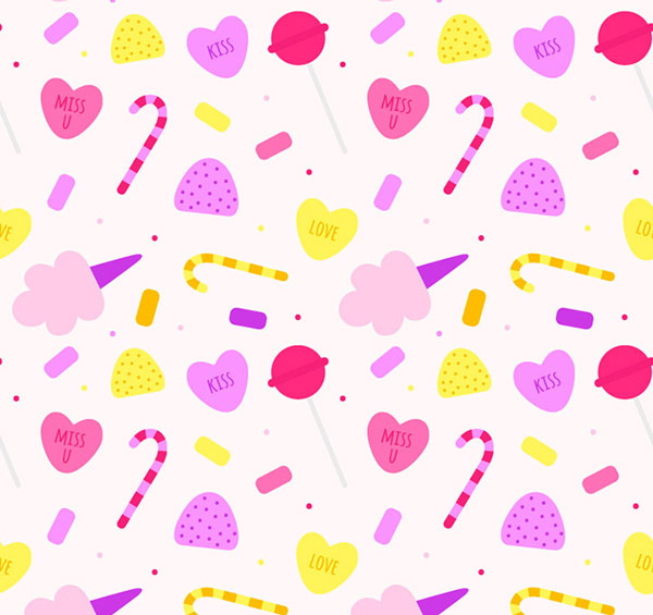 Delicious sweets backgrounds vector
