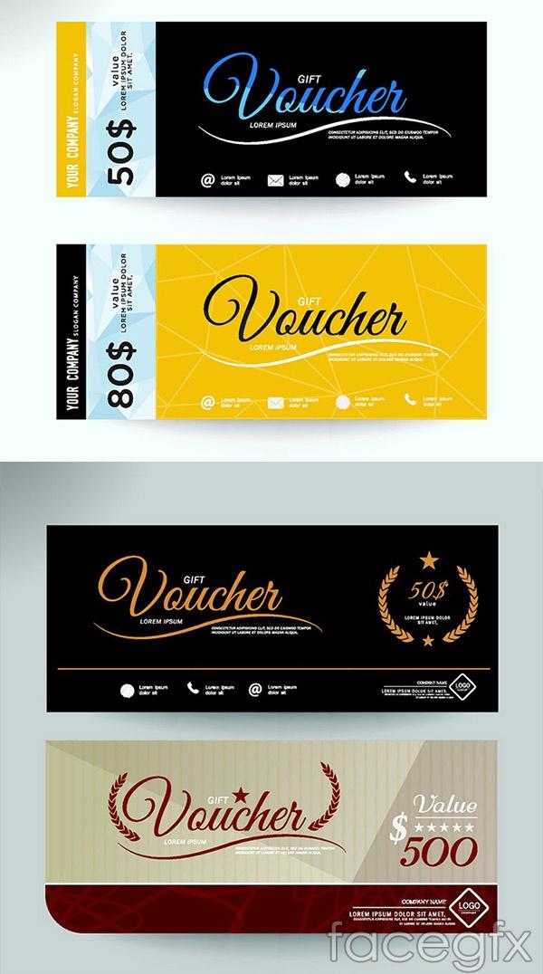 Fashion vouchers ticket vector