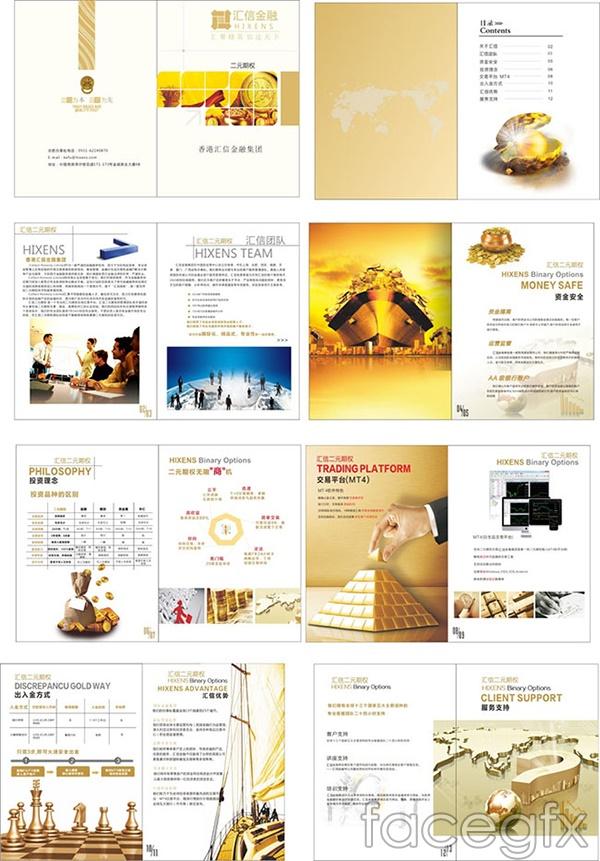 Financial business book vector
