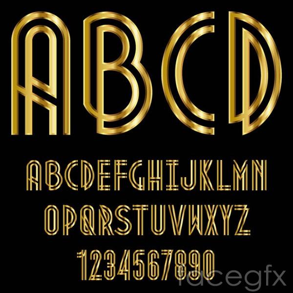 Golden gloss letters vector