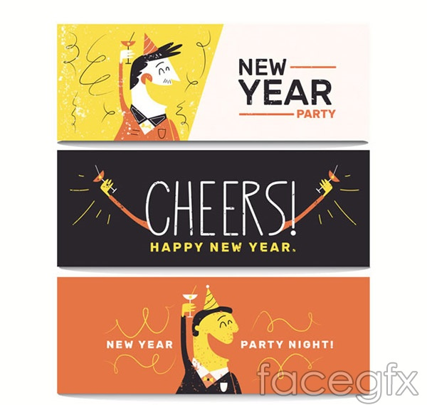New year's Eve party banner vector