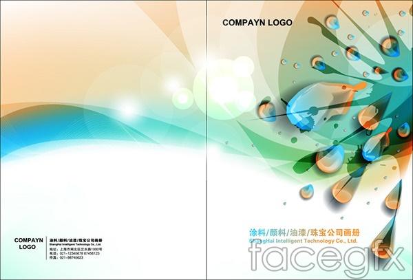 Paint album cover vector