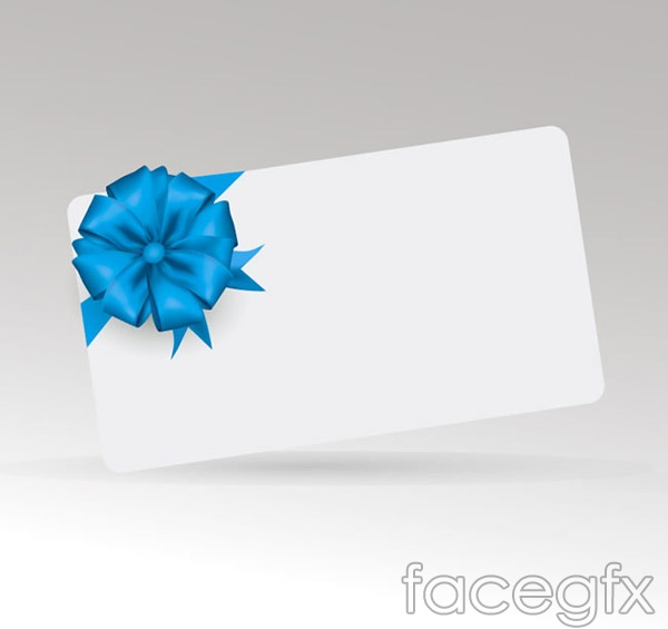 Ribbon flower blank card vector