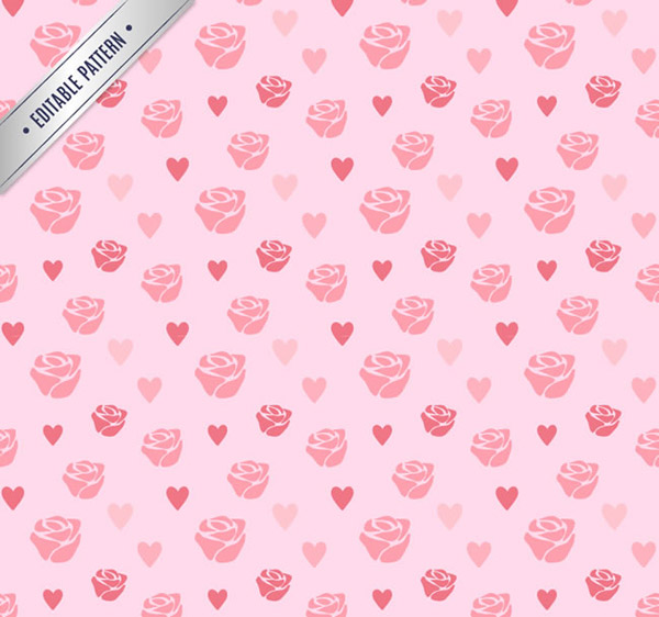 Rose love seamless background vector