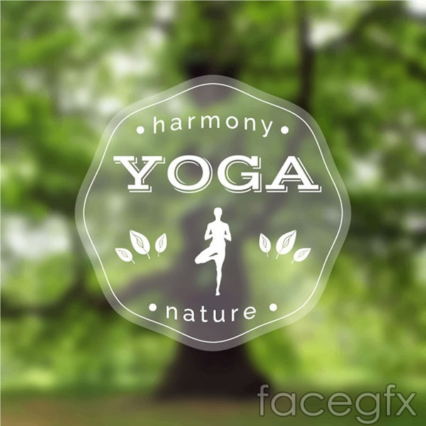 Yoga posters vector