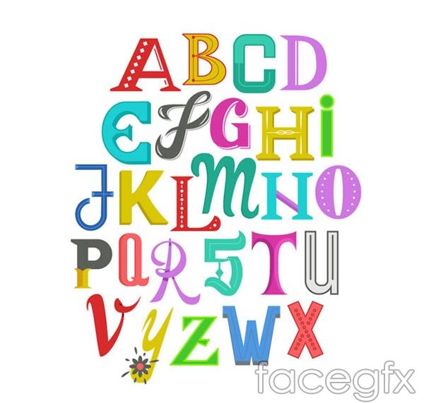 Alphabet art vector