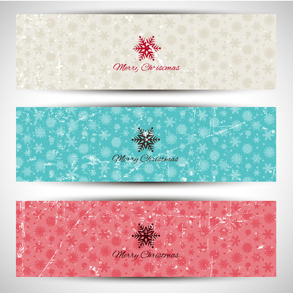 Old snow banner vector