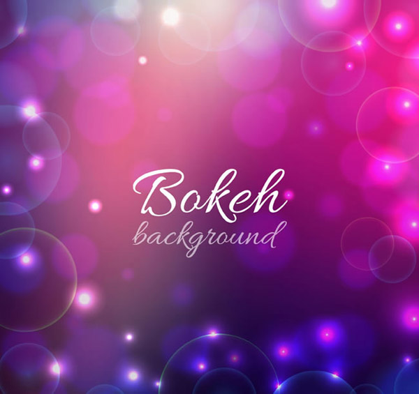 Pink fantasy background Bokeh vector