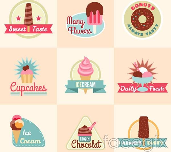 Sweet labels vector