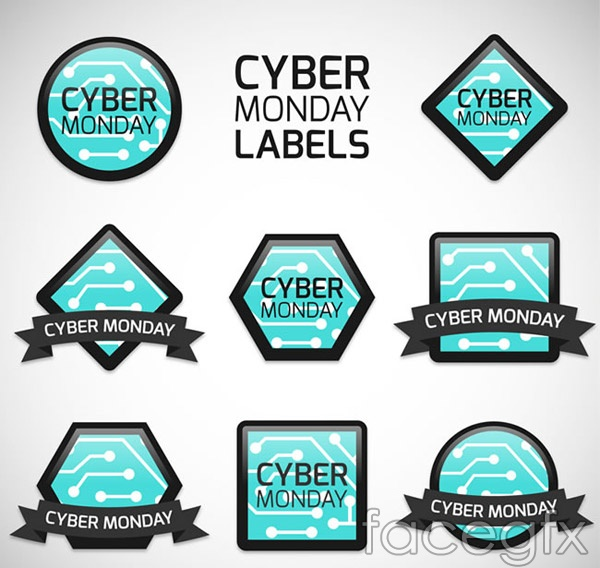 Cyber Monday tags vector
