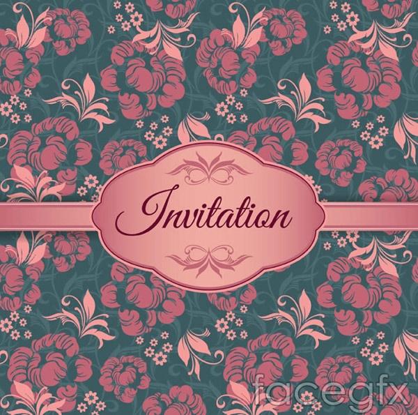 Elegant pattern invitations vector