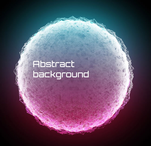Rounded background vector