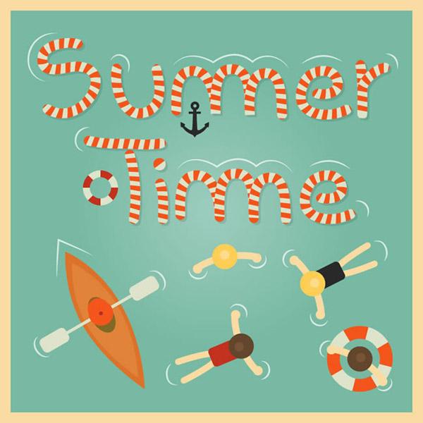 Summer sea holidays illustration vector