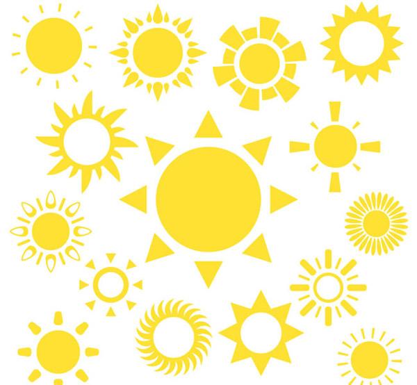 Yellow Sun vector