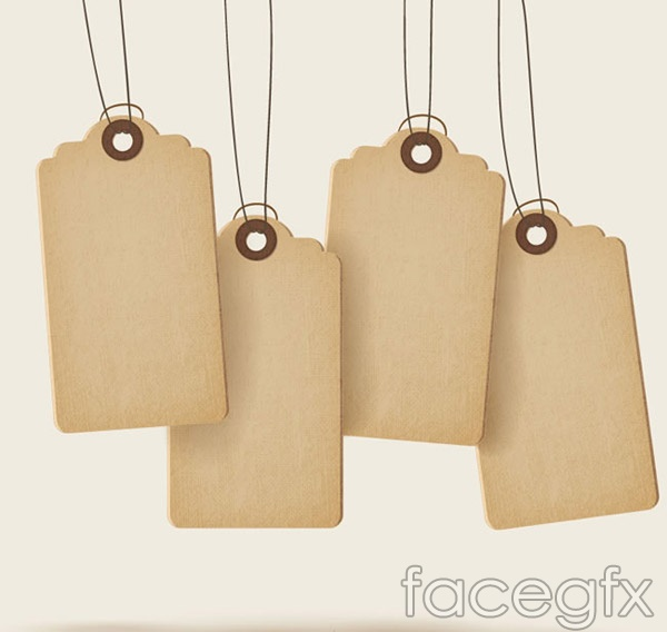 Blank paper tag vector