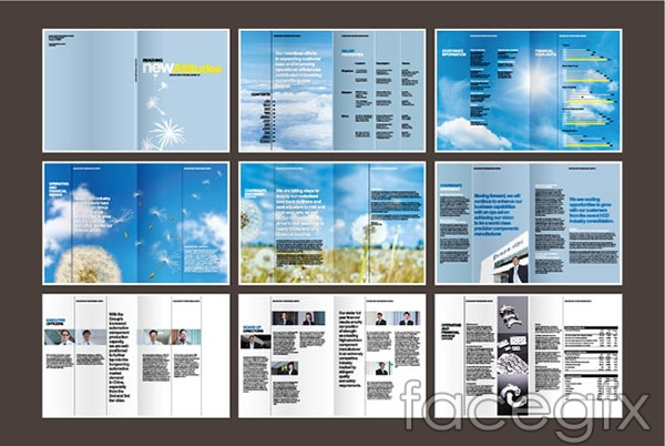 Corporate brochure vector
