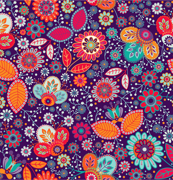 Gorgeous floral seamless background vector
