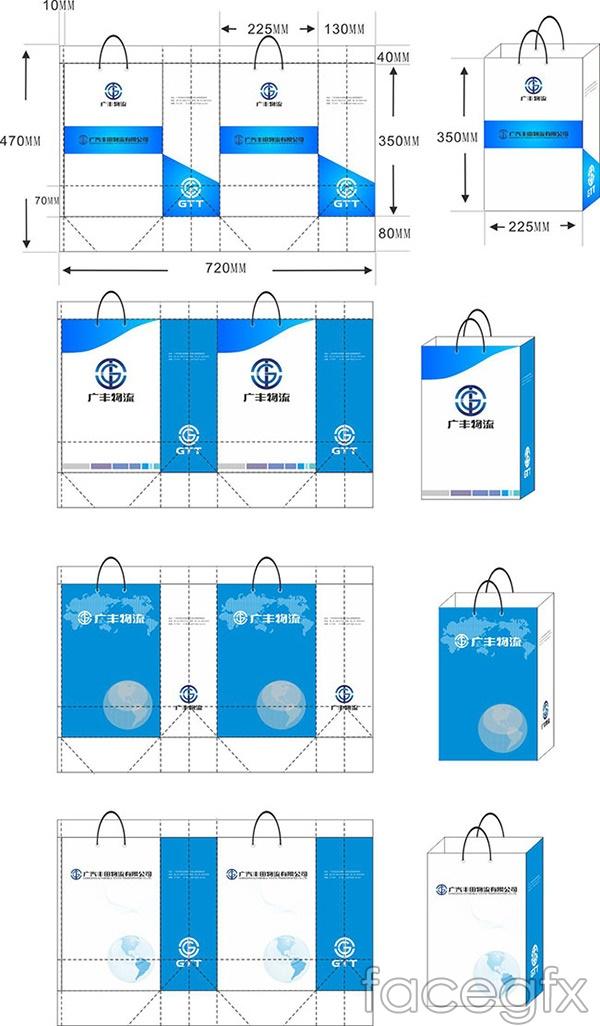 Logistics business tote bag vector