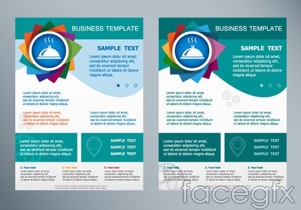 Product promotion flyer vector