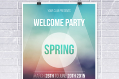 Spring fashion party poster vector