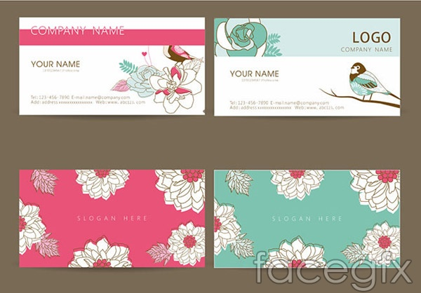 Fashion printed business cards vector