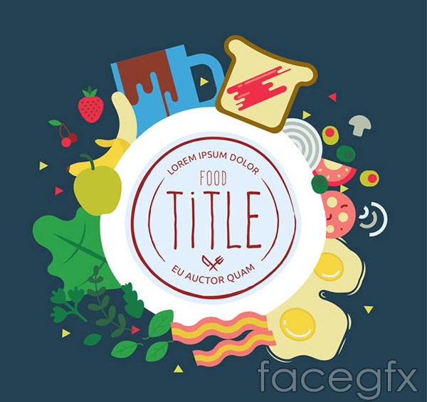 Food Decorative Round Label Vector For Free Download