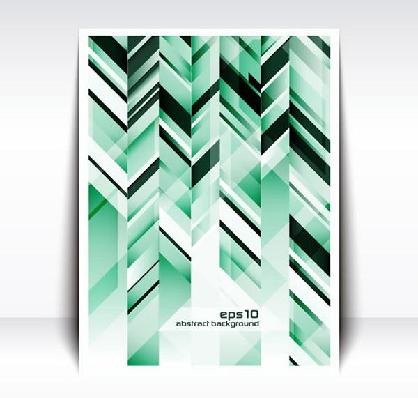 Geometric-shaped leaflets vector