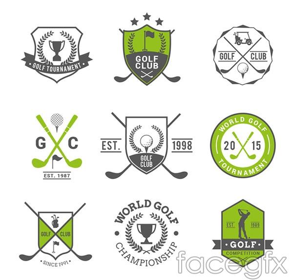 Golf Club labels vector
