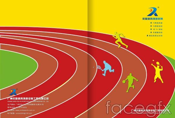 Sports album vector