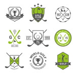 Golf Club labels vector