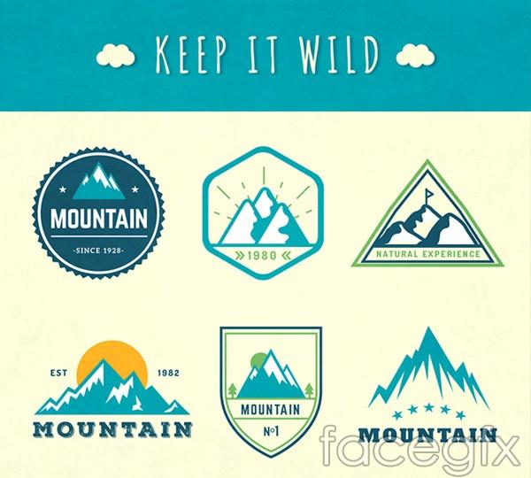 Beautiful mountain label vector