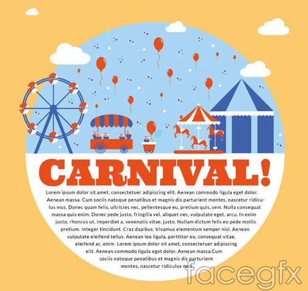 Children's Carnival poster vector