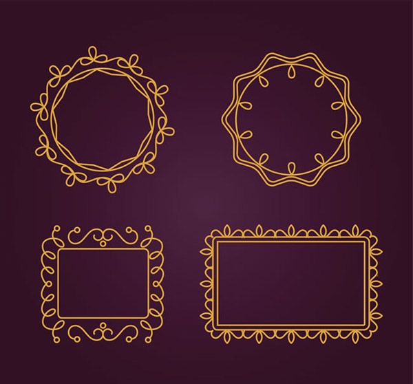 Golden pattern framework vector