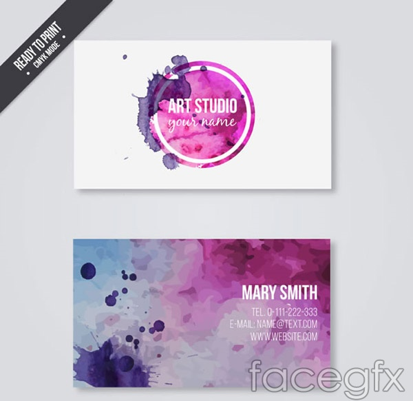 Ink business cards vector