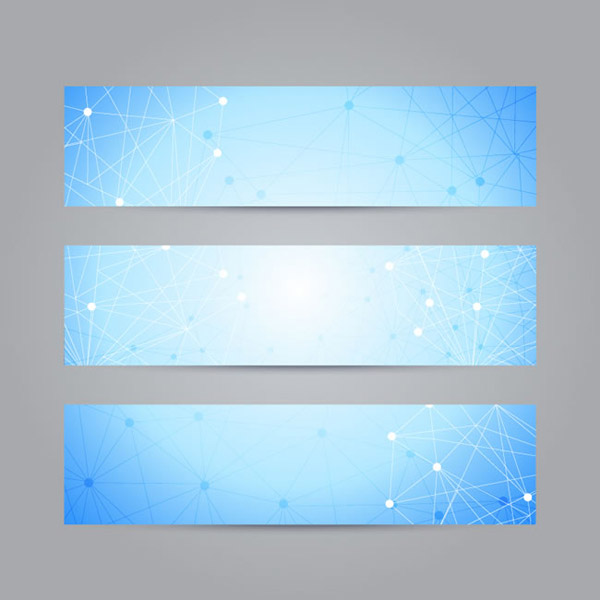 Line decorative banner vector