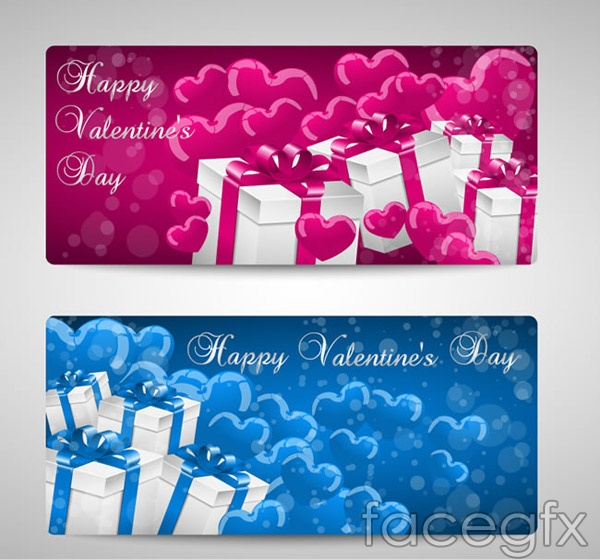 Love and gift cards vector