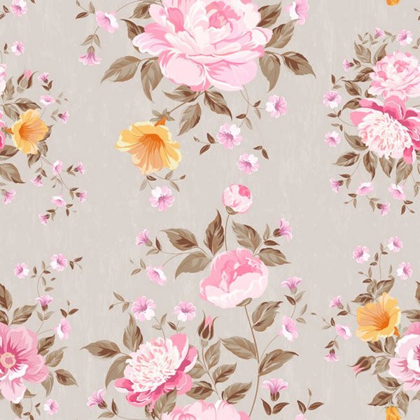 Peony seamless vector background
